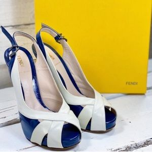 Fendi Spuntata Ultra High Peeptoe Pumps